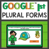 Plural Forms Practice for Google Classroom™ for Distance Learning
