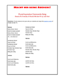 (German Language) Plural Imperative Commands Song—Teaching with Music