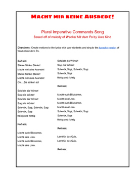 Plural Imperative Commands Song