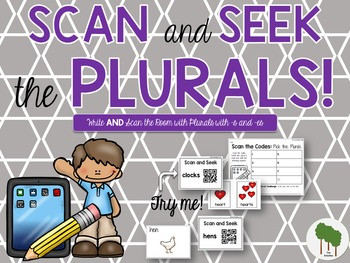 Plurals Sort  - Write the Room - Scavenger Hunt - Adding -s and -es