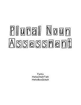 Plural Noun Assessment