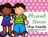 Plural Noun Clip Cards