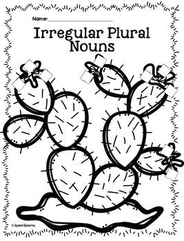 Plural Noun Crafts {Regular Irregular Possessive Noun Activity Art Language}