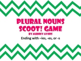Plural Noun Endings Scoot Game - -ies, -es, -s
