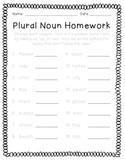 Plural Noun Homework