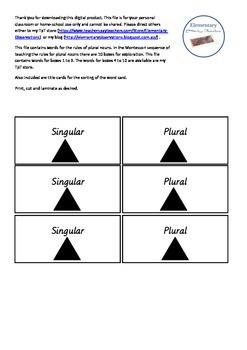Plural Nouns Boxes I-III