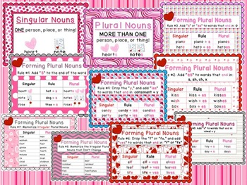 Plural Noun Love Letter Practice Pack