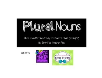 Plural Noun Machine (adding -s)