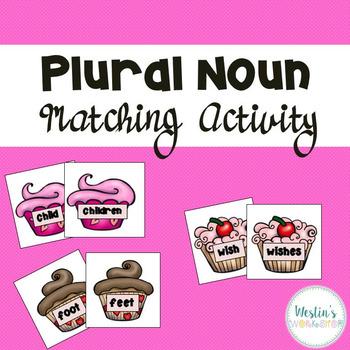 Plural Noun Matching Activity