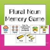 Plural Noun Memory Game - Back To School