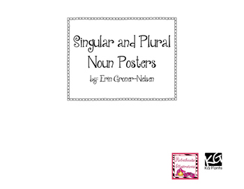 Plural Noun Poster with Rules