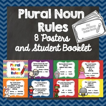 Plural Noun Rules - Posters and Booklet