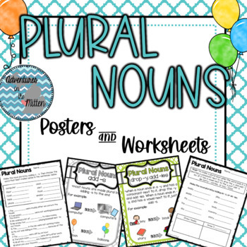 Plural Noun Posters and Worksheets