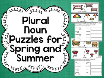Plural Noun Puzzles for Spring and Summer