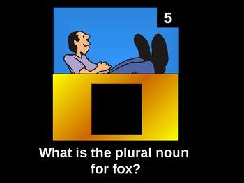 Plural Noun Review Game