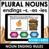 Plural Noun Spelling Rules BOOM CARDS™ -for Regular nouns