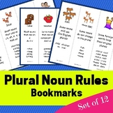 Plural Noun Rules - Bookmarks