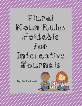 Plural Noun Rules Foldable