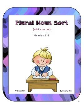 Plural Noun Sort