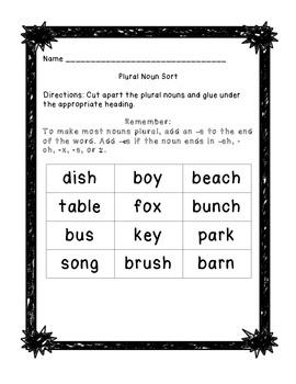 Plural Noun Sort: Adding -s and -es