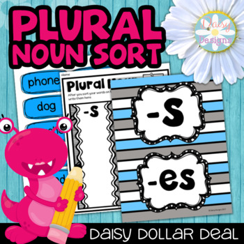Plural Noun Sort Center and Printables - DOLLAR DEAL