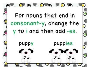 Plural Noun Sort and Posters