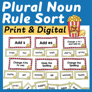 Plural Noun Sort and Reference Sheet