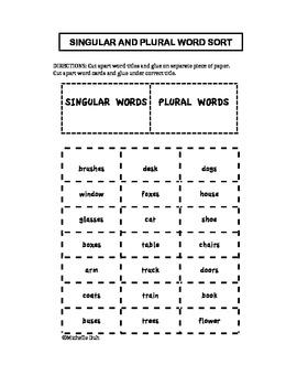 Plural Noun Sort challenge