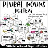 Plural Noun Spelling Rules Posters -Bulletin Board - s, es
