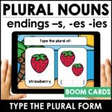 Plural Nouns   Spelling Patterns  -s, -es, -ies endings Di