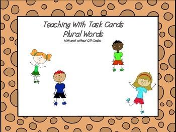 Plural Noun Task Cards (QR codes)