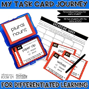 Plural Noun Task Cards (Differentiated)