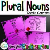 Kindergarten Plural Noun Task Cards with Anchor Charts & G