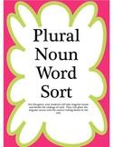 Plural Noun Word Sort