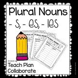 Plural Noun Worksheets (-s, -es, and -ies)