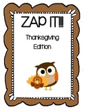 Plural Noun ZAP - Thanksgiving Edition