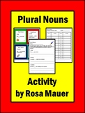 Plural Nouns Task Cards and Worksheets