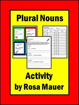 Plural Nouns Task Cards