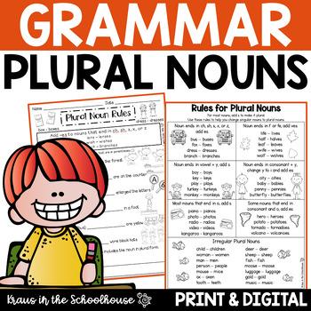 Plural Nouns - Engaging Activities for Regular and Irregular Nouns