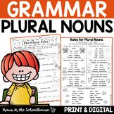 Plural Nouns Activities for Regular and Irregular Nouns