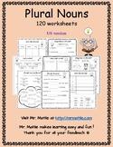 Plural Nouns 120 Worksheets