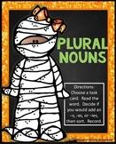 Halloween Plural Nouns Center