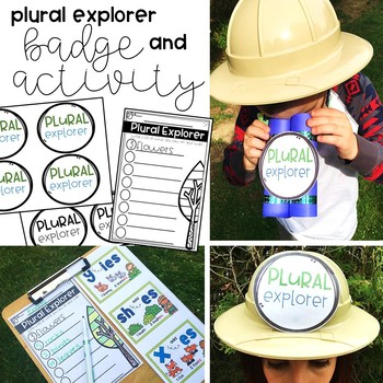 Plural Nouns Activities and Craftivity