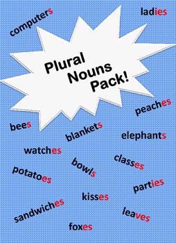 Plural Nouns Activity Pack