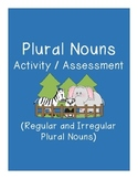 Plural Nouns Activity and Assessment