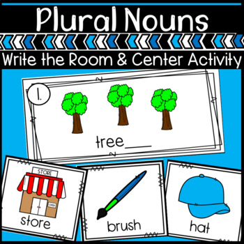Plural Nouns- Adding ES or S center activity and worksheets