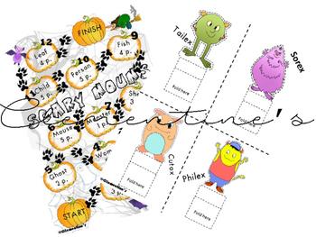 Plural Nouns Board Game - Fun Halloween Activity