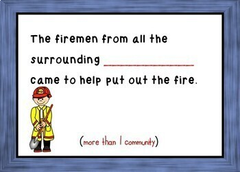 Plural Nouns - Boom Cards (Follow plural rules to fill in the blank) 24 Cards!