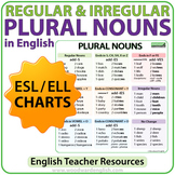 Plural Nouns Charts - Regular & Irregular Nouns in English
