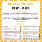 Plural Nouns Desk Helper